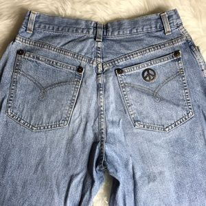 "{Moschino} Vintage Mom Jeans High Rise 11"" Denim"